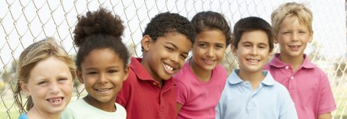 Group of 6 children smiling